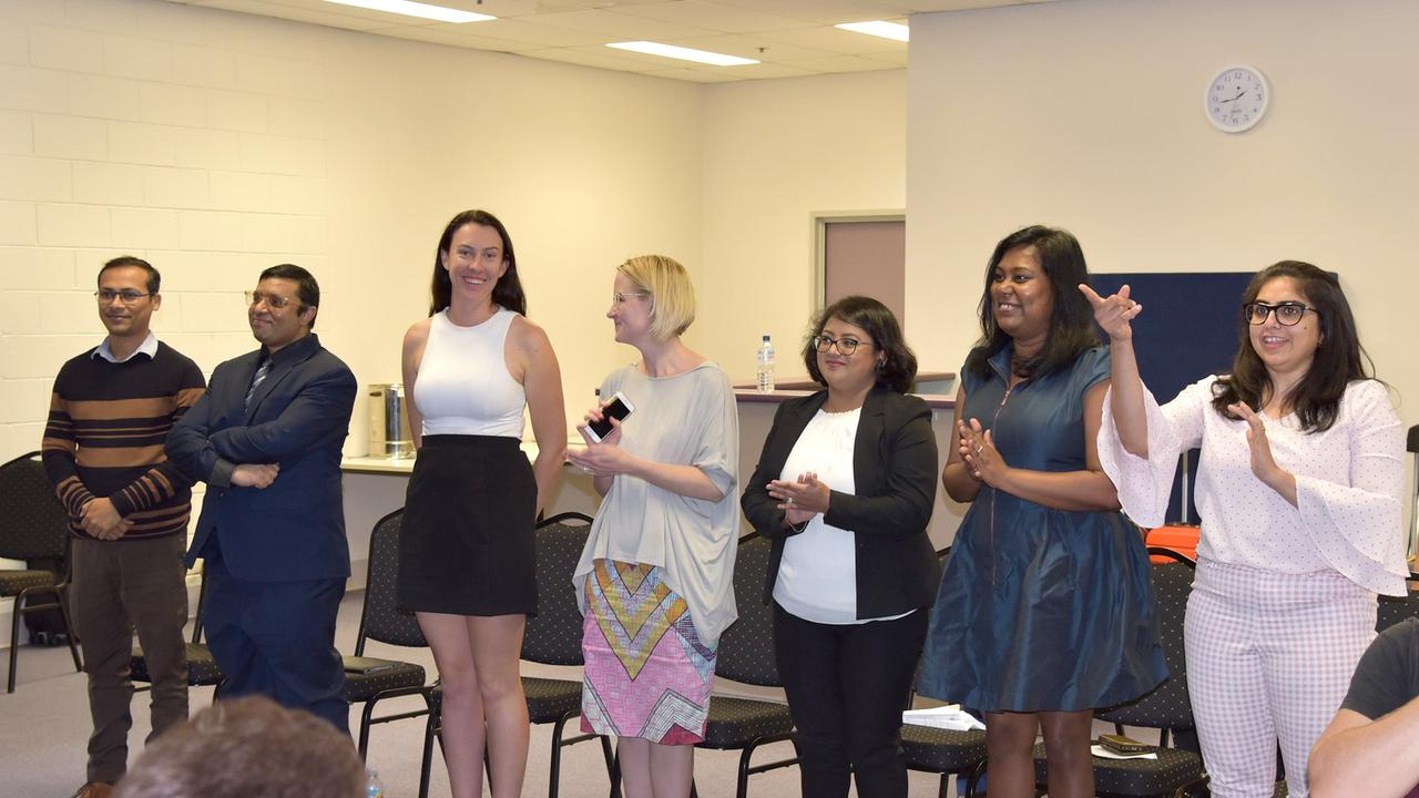 Participants in CQUniversity's five minute pitch competition