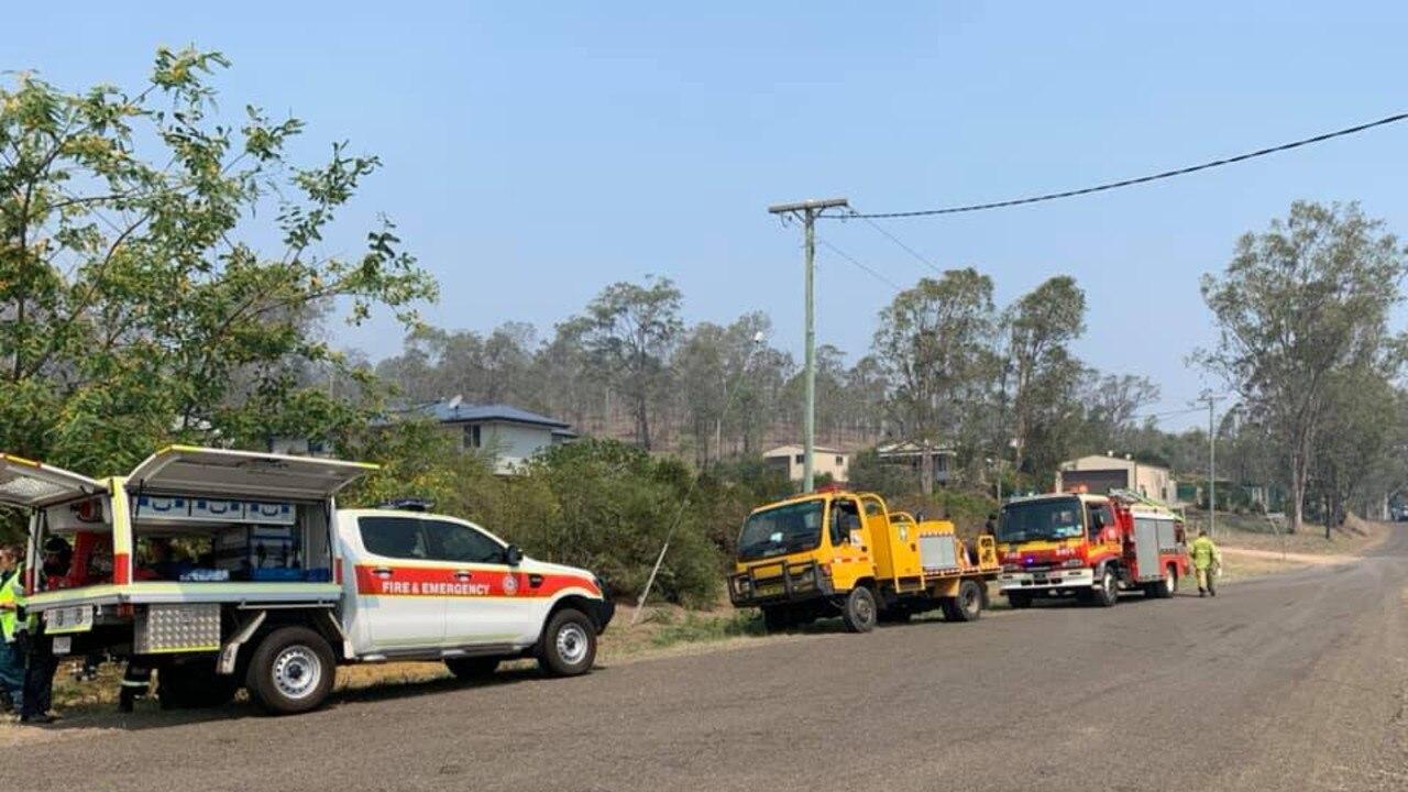 Cinnabar fire on Kinbombi Rd, west of Gympie. Photos courtesy of Kim Boyter