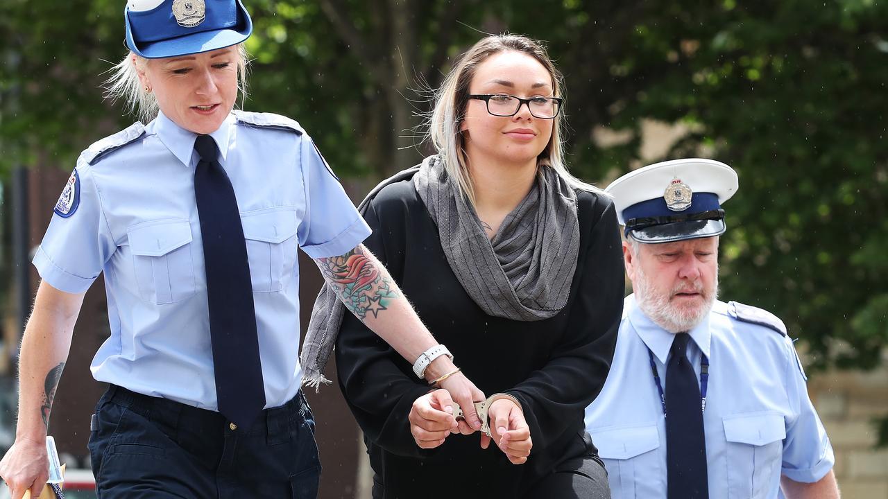 Alexandra Rose Kobelke being led into court.