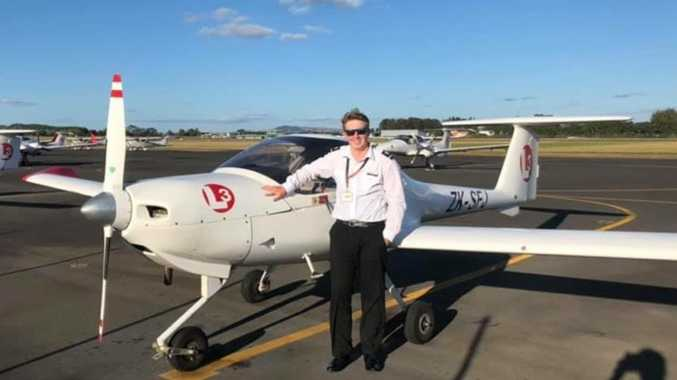 Young North Burnett pilot earning his wings
