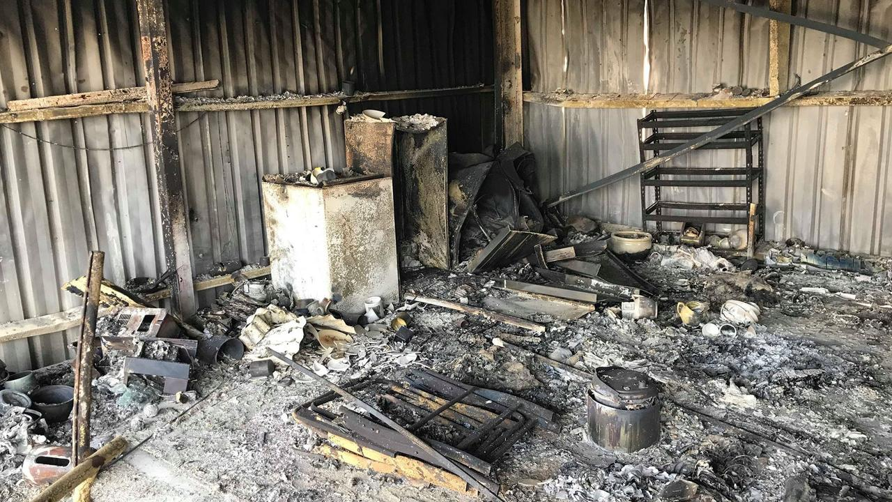 Petria and Greg Stack lost everything in a fire at Yeppoon on November 9.