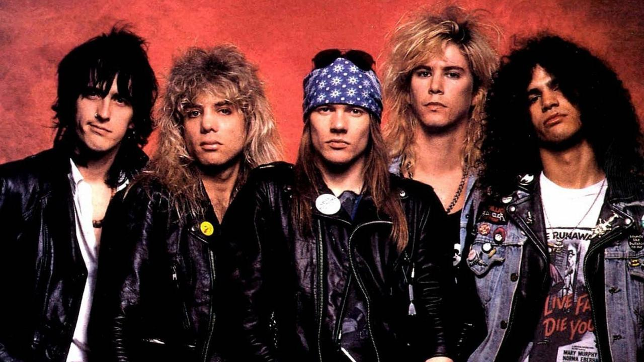 Guns N' Roses, pictured in 1987, pipped A-ha to reaching the one billion YouTube posts first.