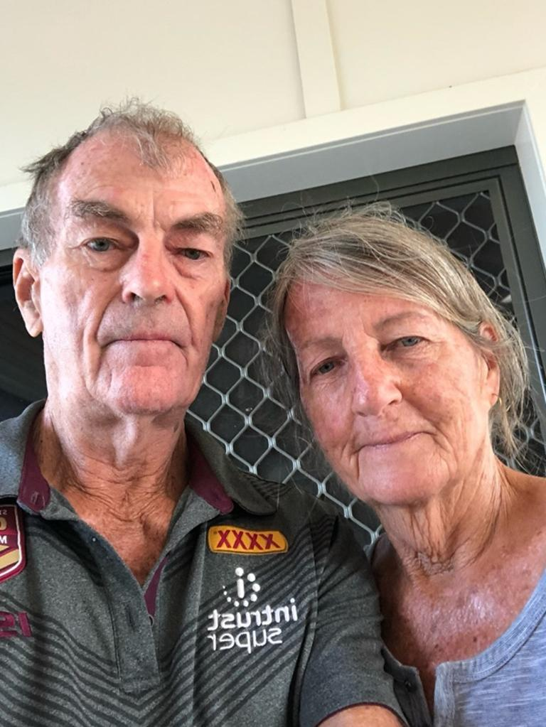 Greg and Petria Stack lost everything after a bushfire engulfed their home at Woodbury.