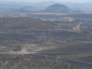 Aerial view of Cobraball fire aftermath