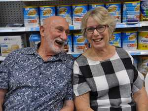 Ken and Rosemary Jones have a laugh at Yeppoon Day