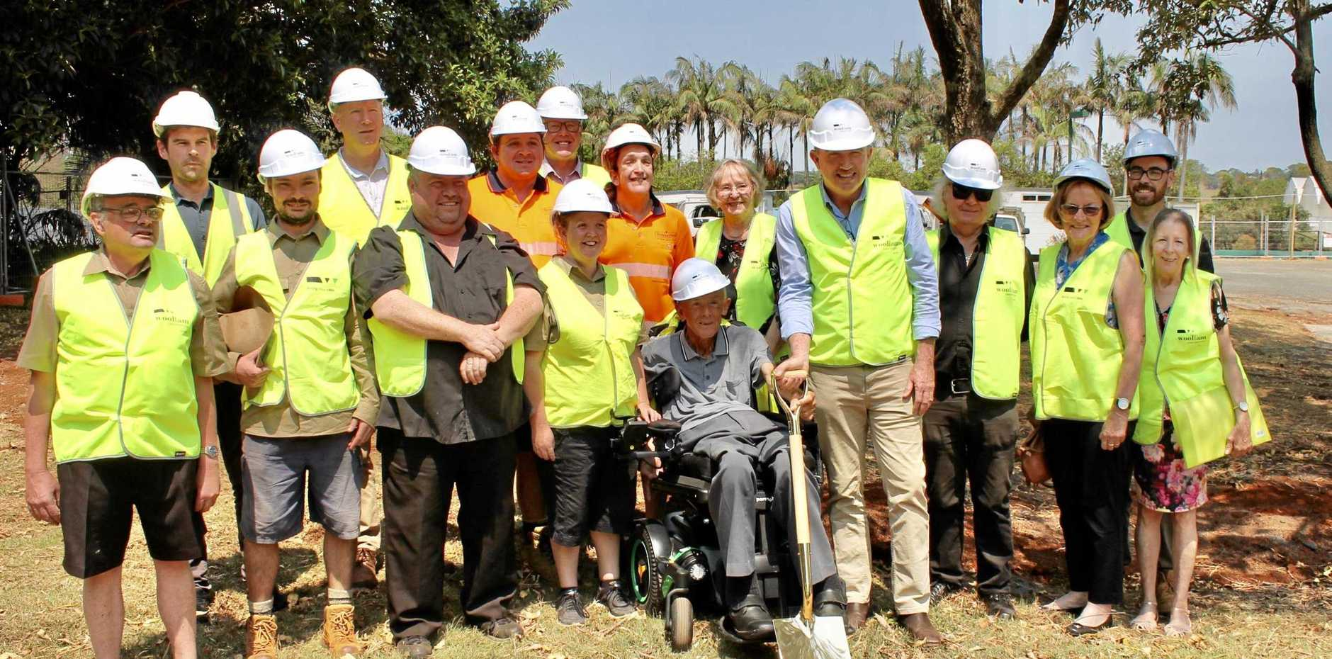 SOD TURNED: Summerland House workers with MP Kenin Hogan MP.