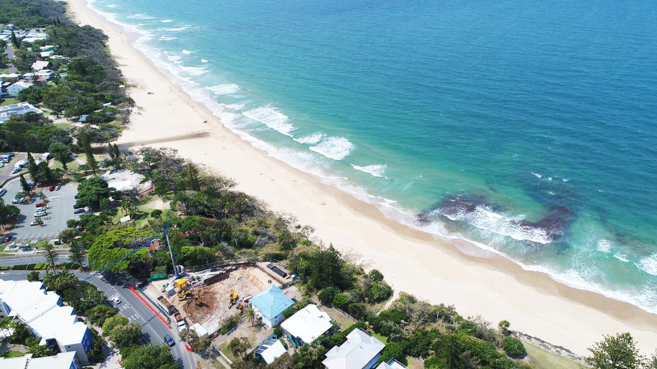 Dicky Beach residents have been quick to speculate at what's going on at the prime site. Photo: Patrick Woods