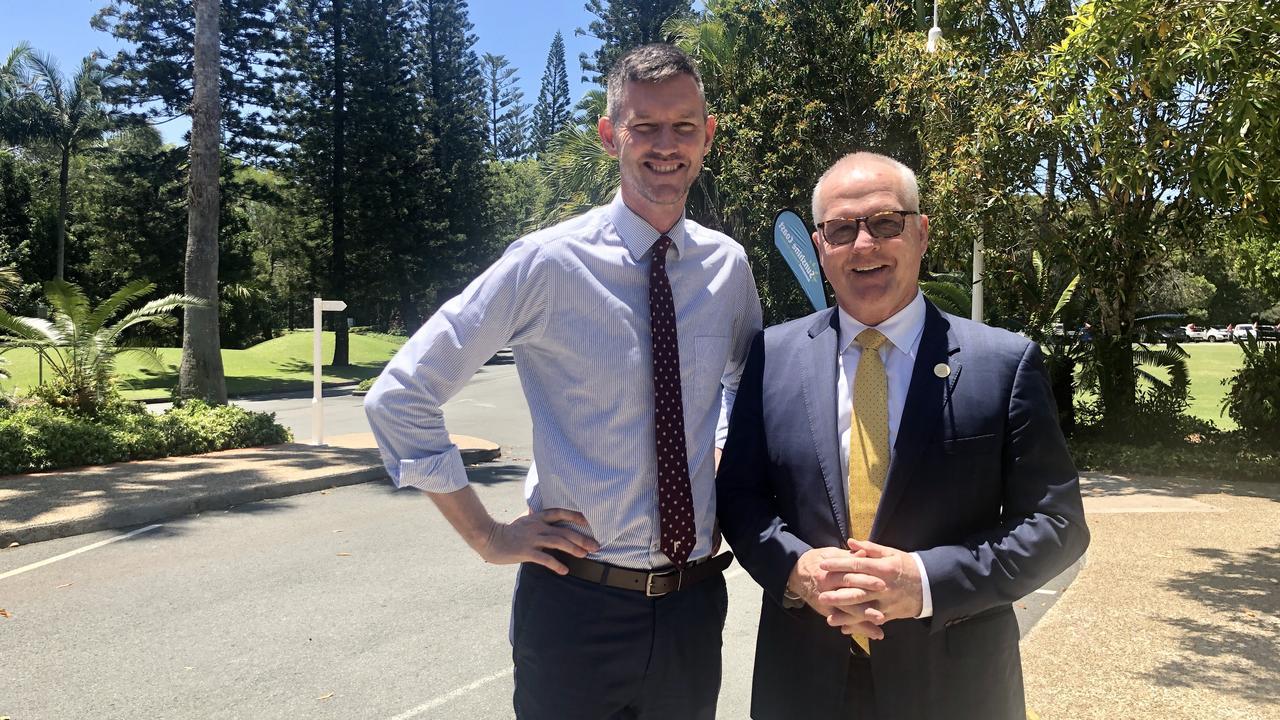 Transport Minister Mark Bailey with Sunshine Coast Mayor Mark Jamieson. Photo: Contributed
