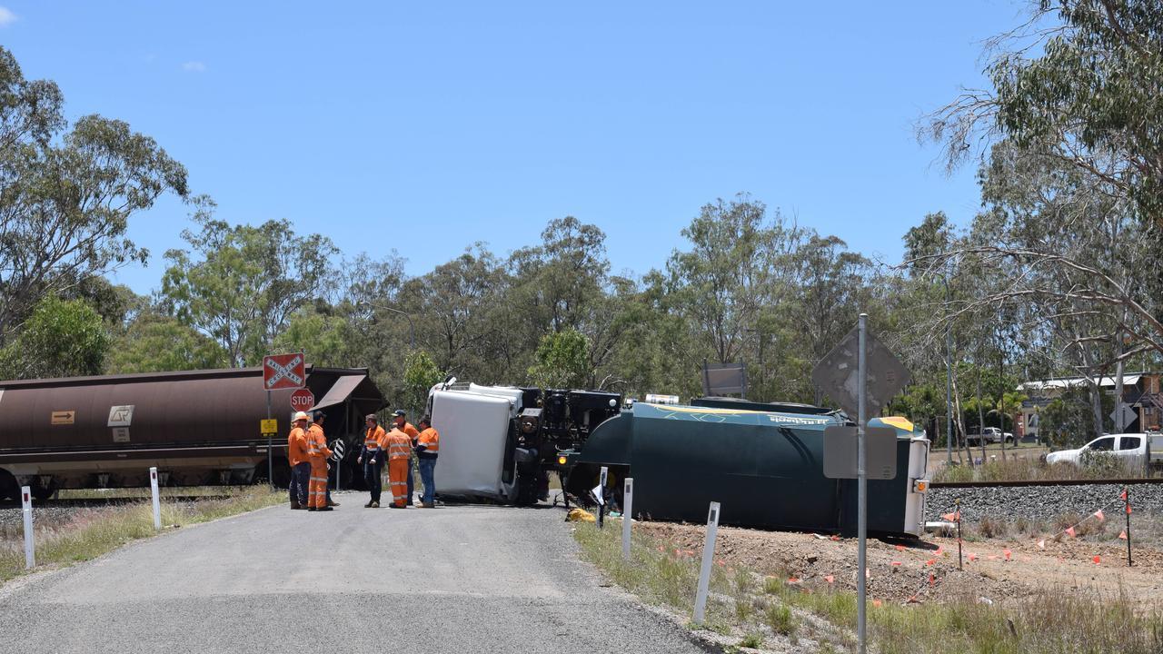 A truck and train collided on Gehrke Rd, Burua around 10:15am 22 November 2019