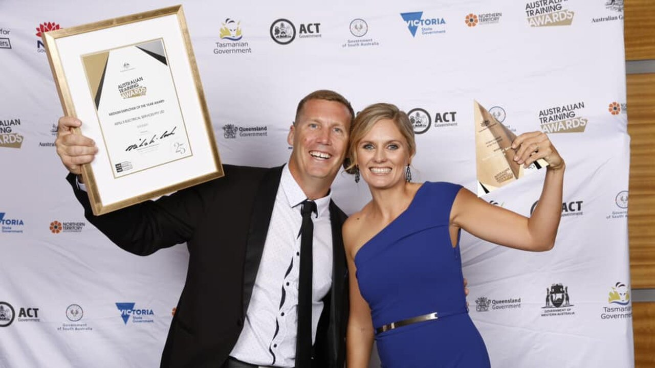 WINNERS: Mick and Amanda Astill took out the medium employer of the year at the recent Australian Training Awards.