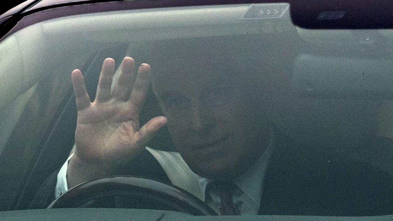 Prince Andrew was spotted for the first time since releasing his explosive statement as he left his home in Windsor on Thursday. Picture: Steve Parsons/PA via AP