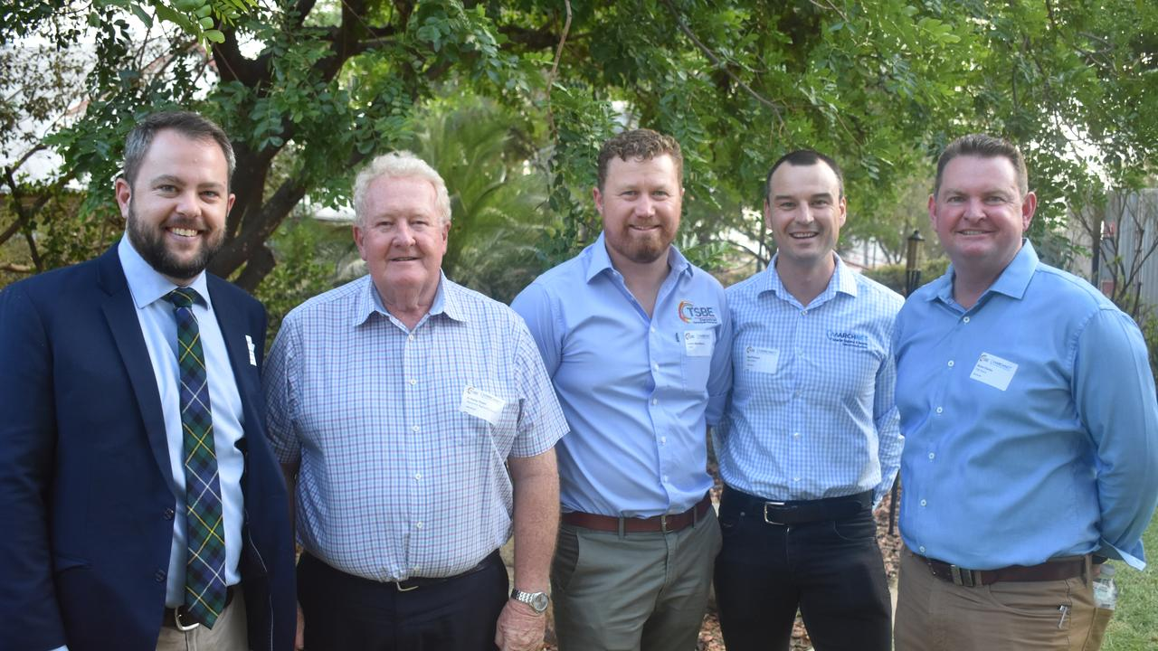 Councillors Cameron O'Neil and Peter Flynn, Lane MacManus from TSBE, Geoff Marsh from MarchNet, and TSBE Chair Shane Charles.