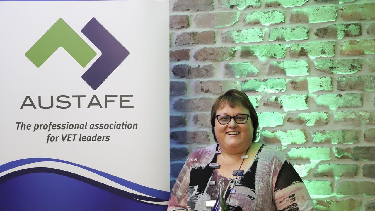 RECOGNITION: Karyn Kimlin was awarded a AUSTAFE Legends award in Brisbane earlier this month.