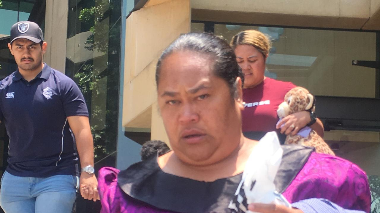 BRAVE MUM: Mrs Faifai Levi leaves Ipswich Courthouse after giving an apology to the Judge for the crimes of her son Maotua.