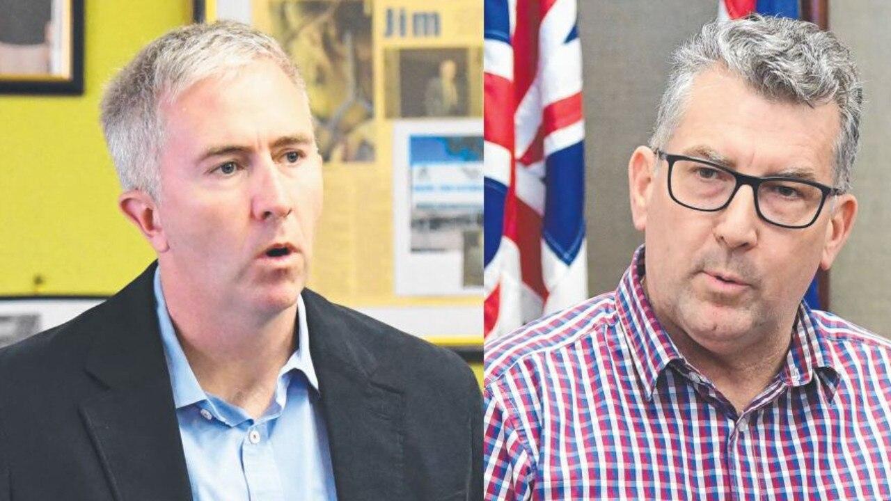 Senator Anthony Chisholm and Hinkler MP Keith Pitt.