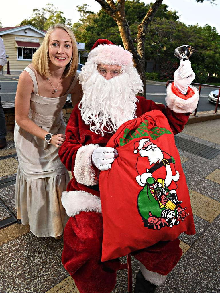 COMMUNITY: Santa is checking his list for Christmas this year with Michaela Murray from Yellow Oak Clothing.