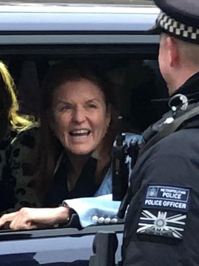 Sarah Ferguson Fergie arrives at Buckingham Palace on Thursday, November 21. Picture: BBC