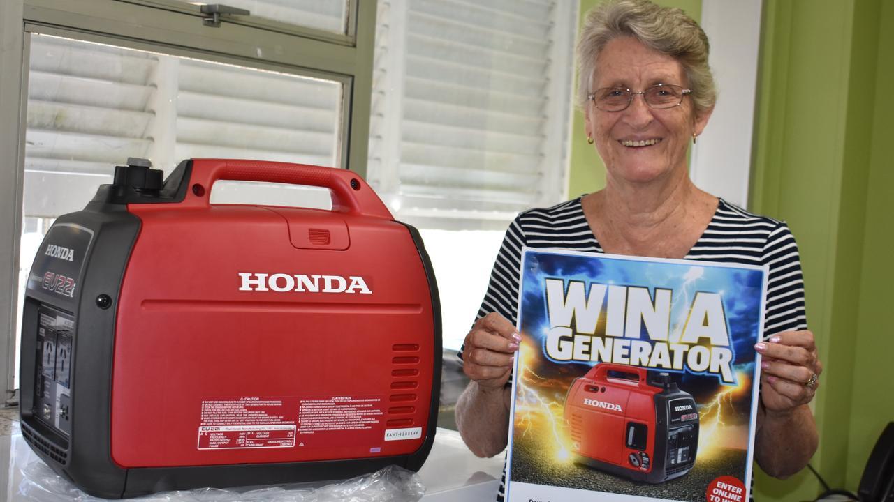 WINNER: Patricia Senn with her new generator.