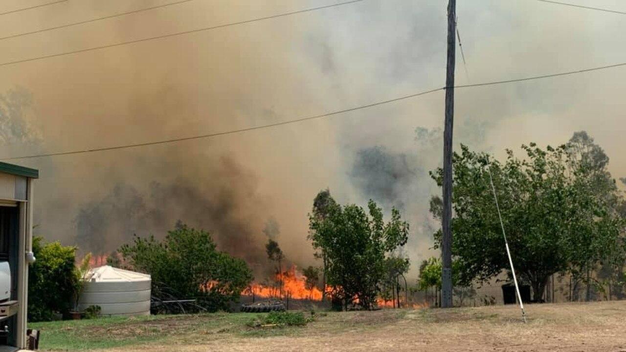 Cinnabar fire on Kinbombi Rd, west of Gympie