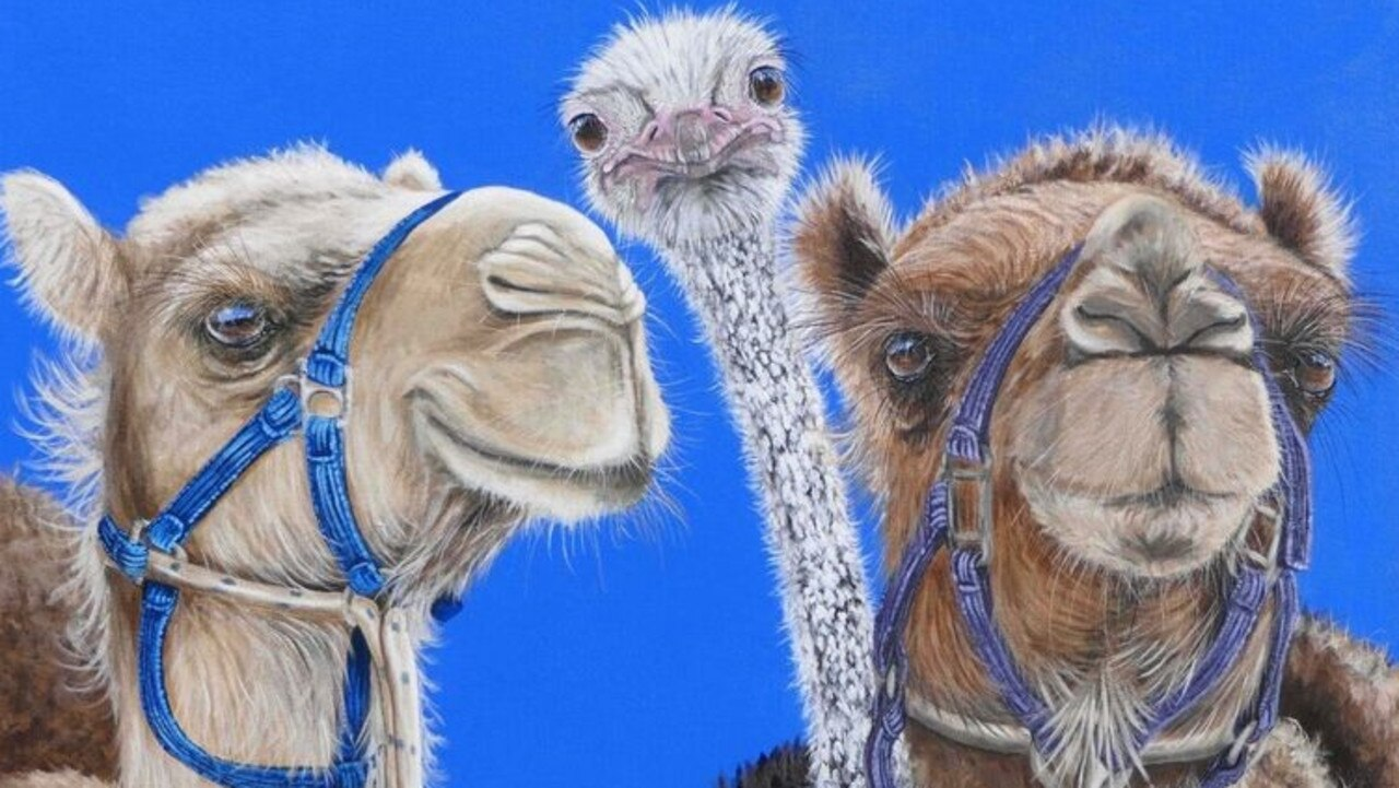 You Ain't No Camel acrylic on canvas by Fiona Groom. Picture: Courtesy of the artist
