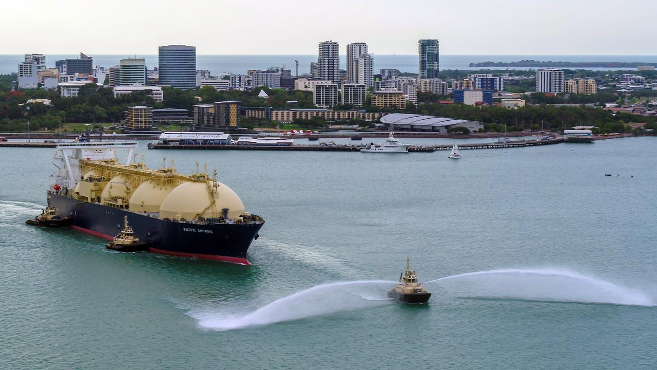 The 100th shipment of LNG left Darwin Harbour this year. Picture: Supplied