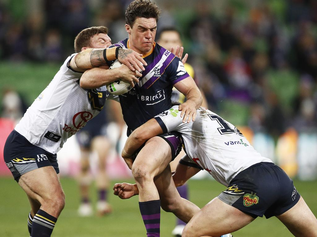 Brodie Croft in action for the Storm against the Cowboys last season.
