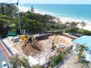 EPIC VIEWS: Thor-style mansion under construction