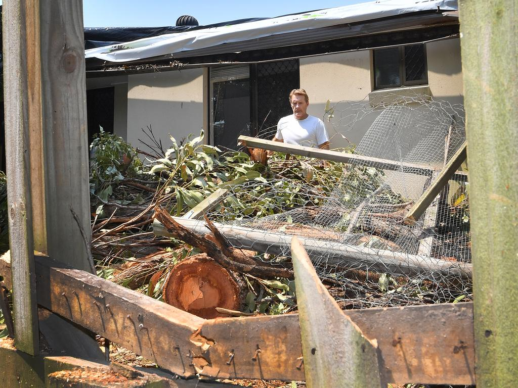 Mayoral candidate Chris Thompson surveys damage his family's Mooloolaba home which has forced them to find alternative accommodation. Photo: John McCutcheon / Sunshine Coast Daily