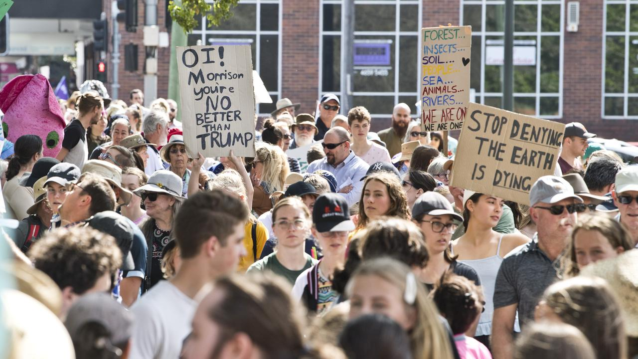Global climate strike marches in Toowoomba. Friday, 20th Sep, 2019.
