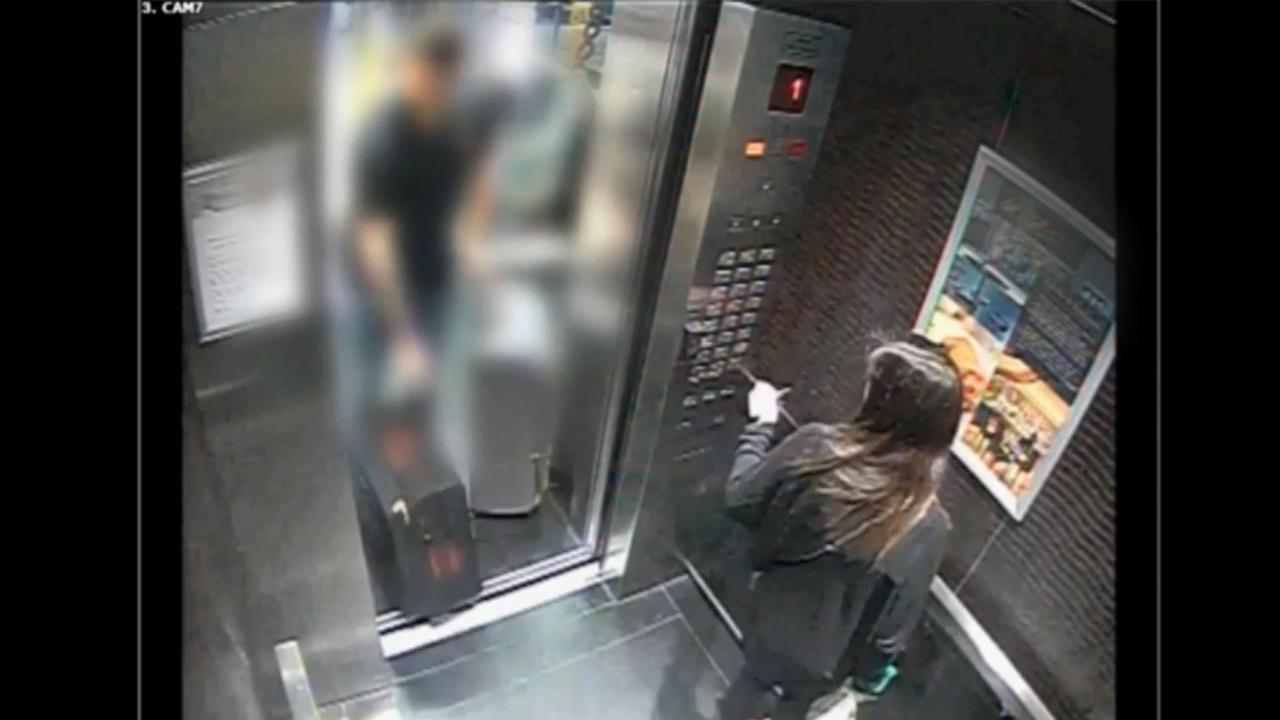 CCTV footage shows the accused in the hours after British backpacker Grace Millane was murdered. Picture: NZ Police