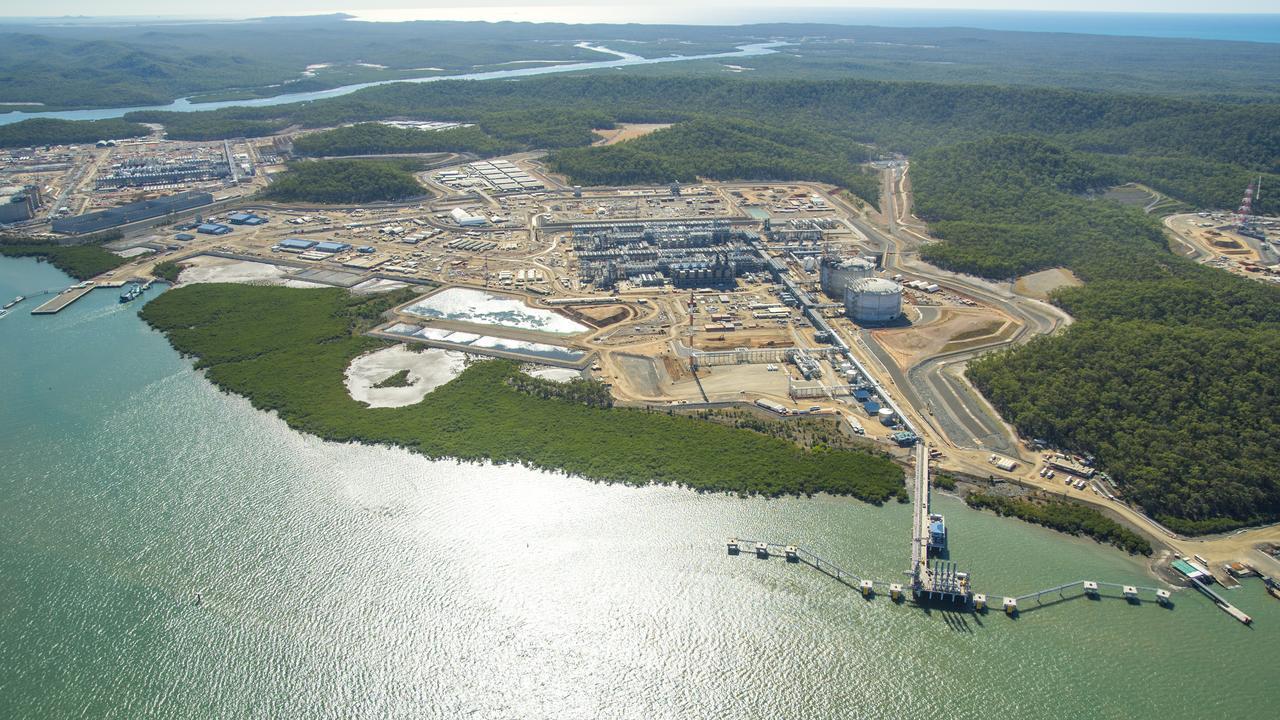 BG Group's LNG plant at Curtis Island, Gladstone