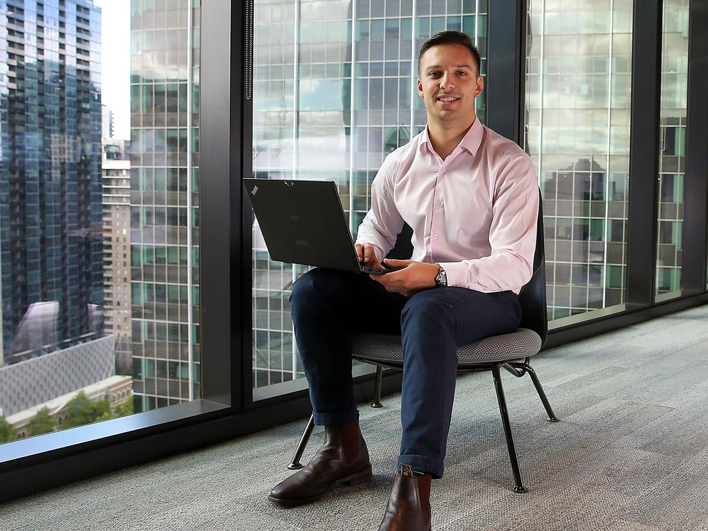 Liam Bisognin, an associate in assurance at PwC in Melbourne. Picture: Ian Currie