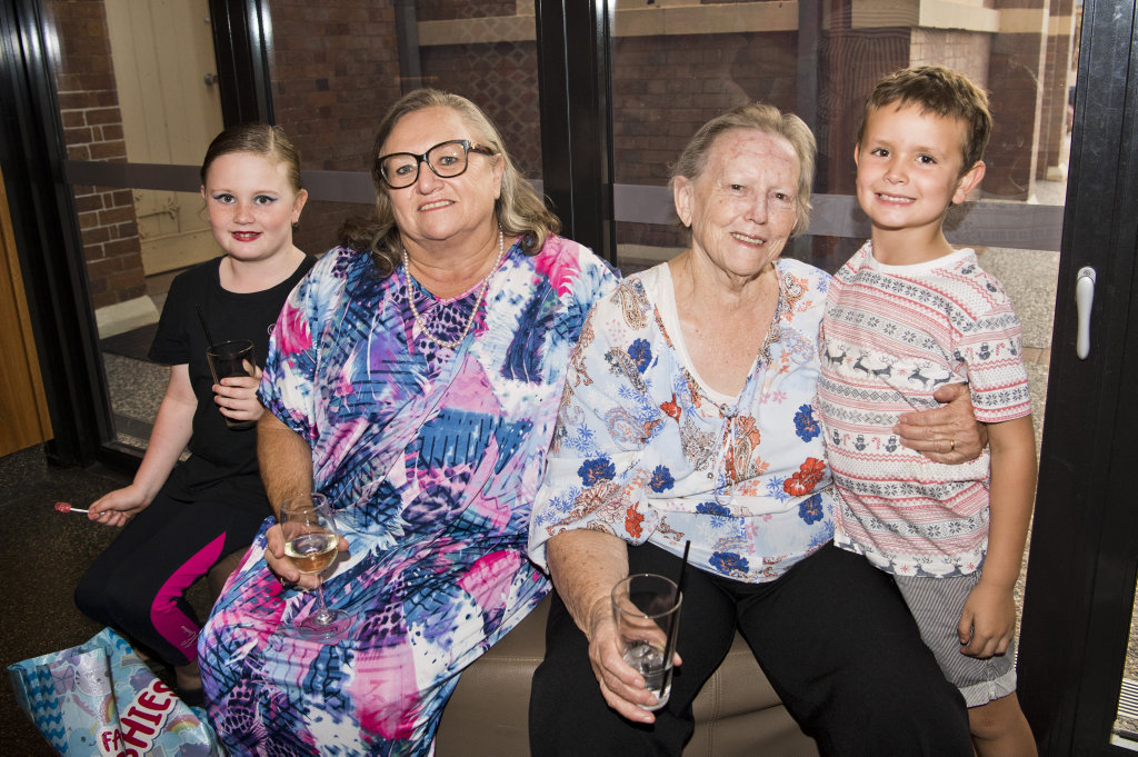 Image for sale: ( From left ) Izabelle Schmidt, Julie Schmidt, Kay Mitchell and Mitchell Schmidt. The Carnival Dream at The Armitage Centre, Empire Theatres. Picture: Nev Madsen. Thursday, 21st Nov, 2019
