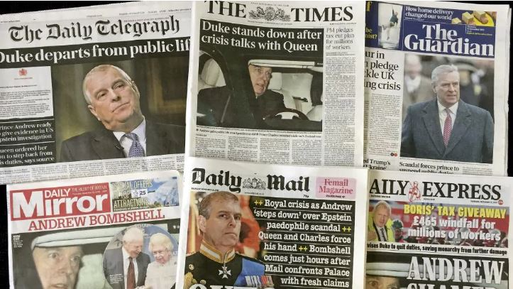 The scandal is front page news across the UK. Picture: AP