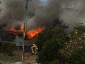 VIDEO: The moment a Townsville home goes up in flames