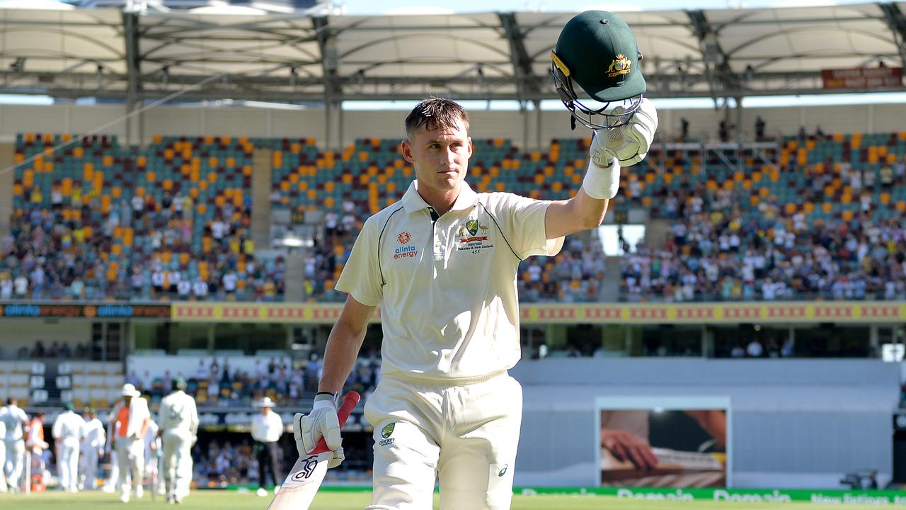 Marnus Labuschagne acknowledges the crowd after being dismissed for 185. Picture: Getty