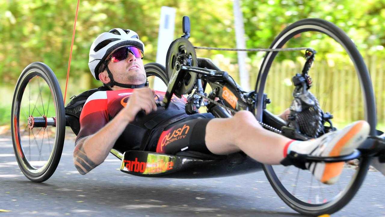 Para-cyclist Alex Welsh is gearing up for the Buderim 9 cycling event. Photo: John McCutcheon.