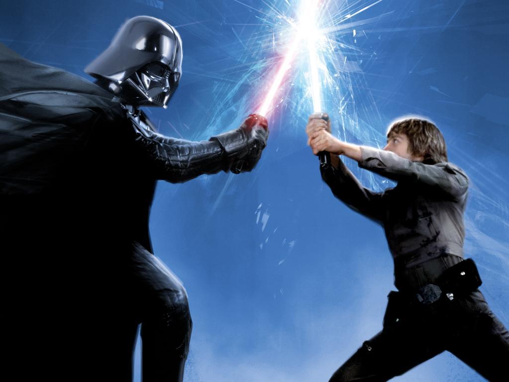 Darth Vader and Luke Skywalker in The Empire Strikes Back.