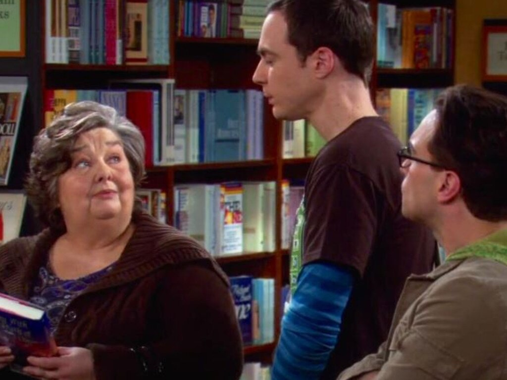 Jane Galloway Heitz, Jim Parsons and Johnny Galecki in The Big Bang Theory in 2007. Picture: Supplied