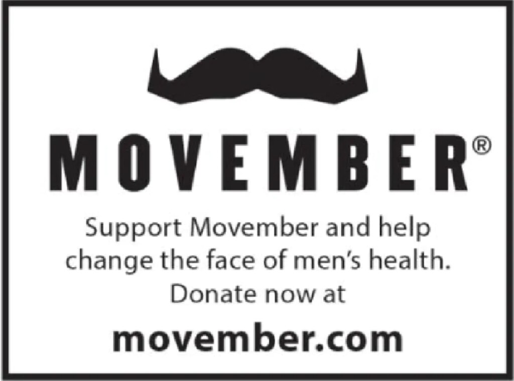 Support the Movember campaign by donating