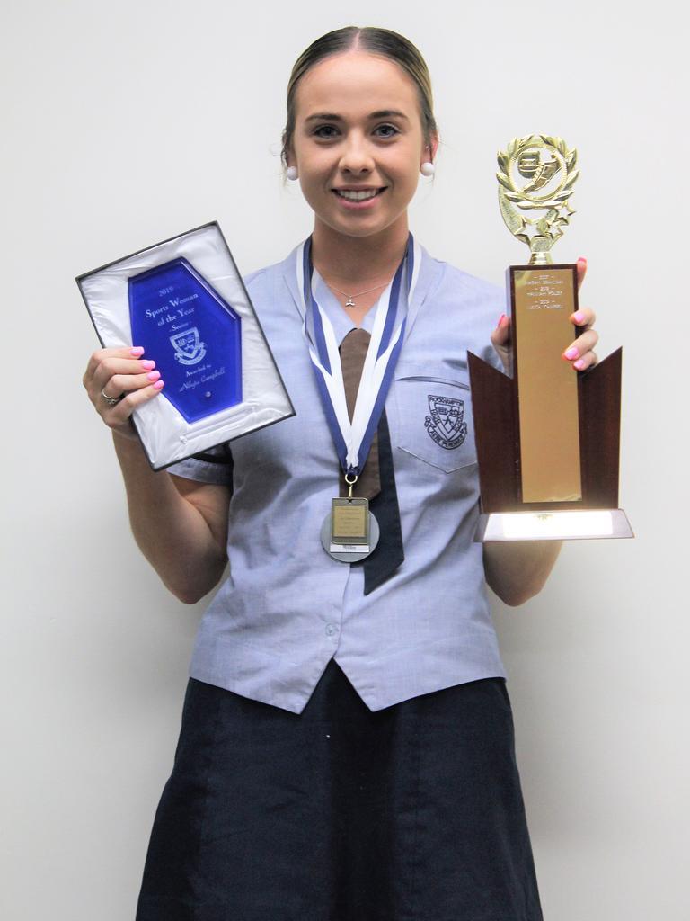 Nikyta Campbell RSHS' Senior Sportswoman of the Year.