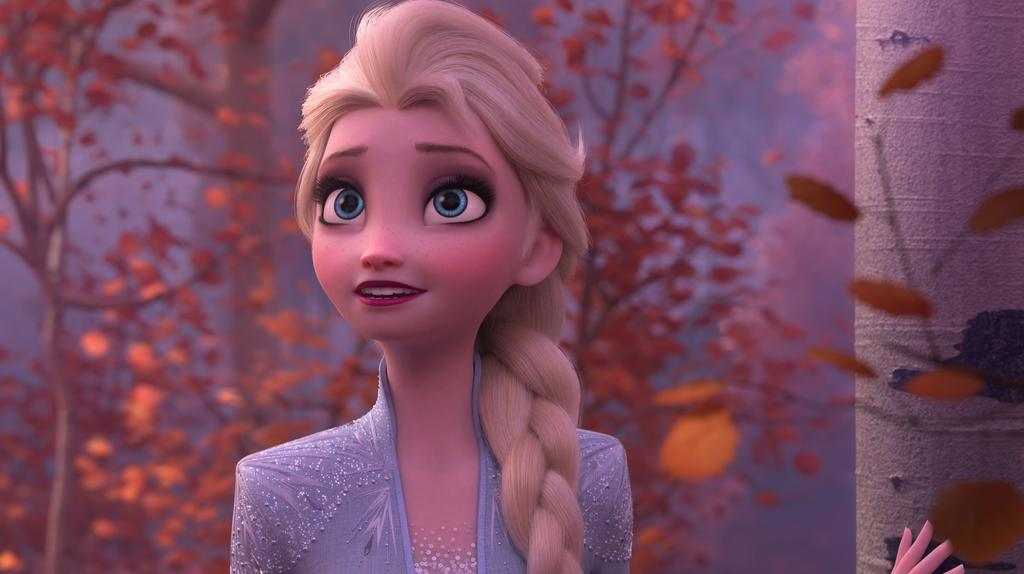 Elsa (voiced by Idina Menzel) embarks on a dangerous quest in Frozen 2.