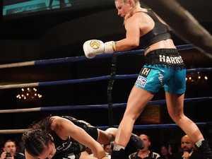 Tayla Harris obliterates boxing rival