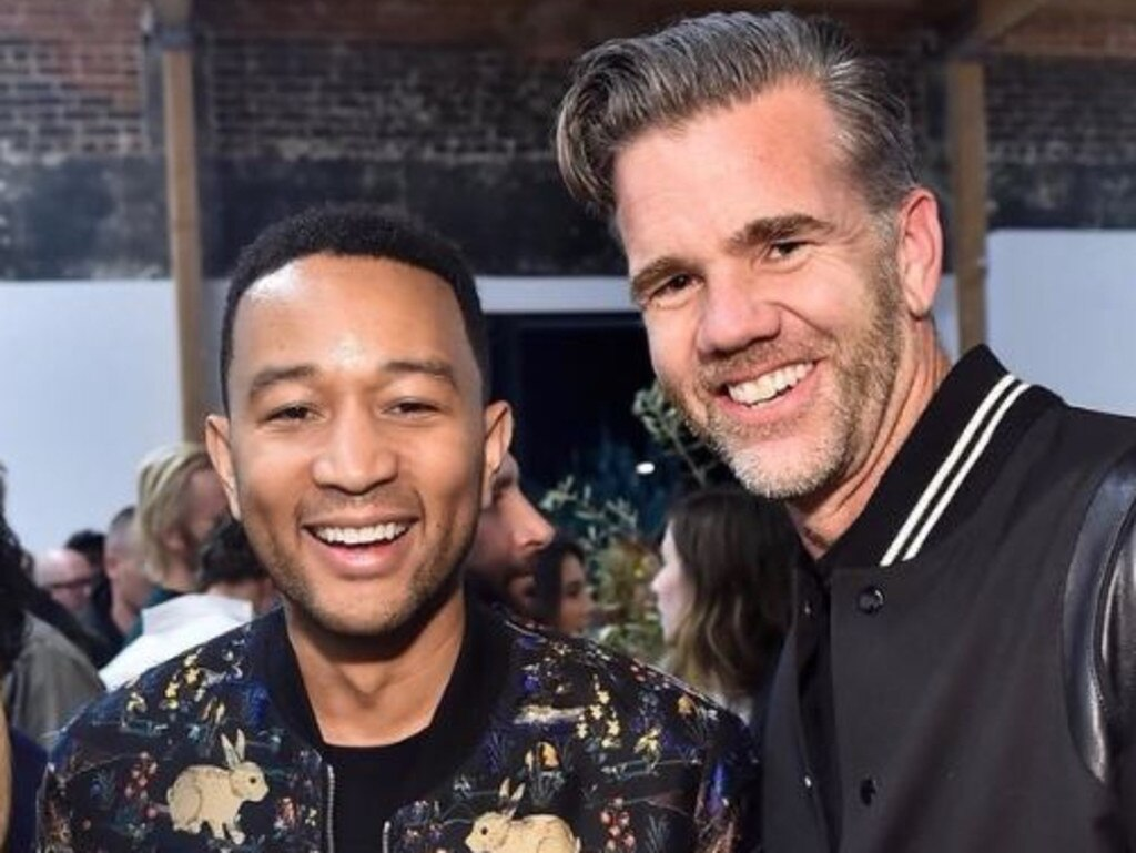 Tesla design chief Franz von Holzhausen and John Legend. Picture: Twitter