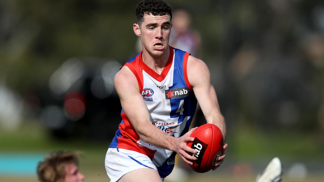 Explosive midfielder Sam Flanders has been likened to Christian Petracca.