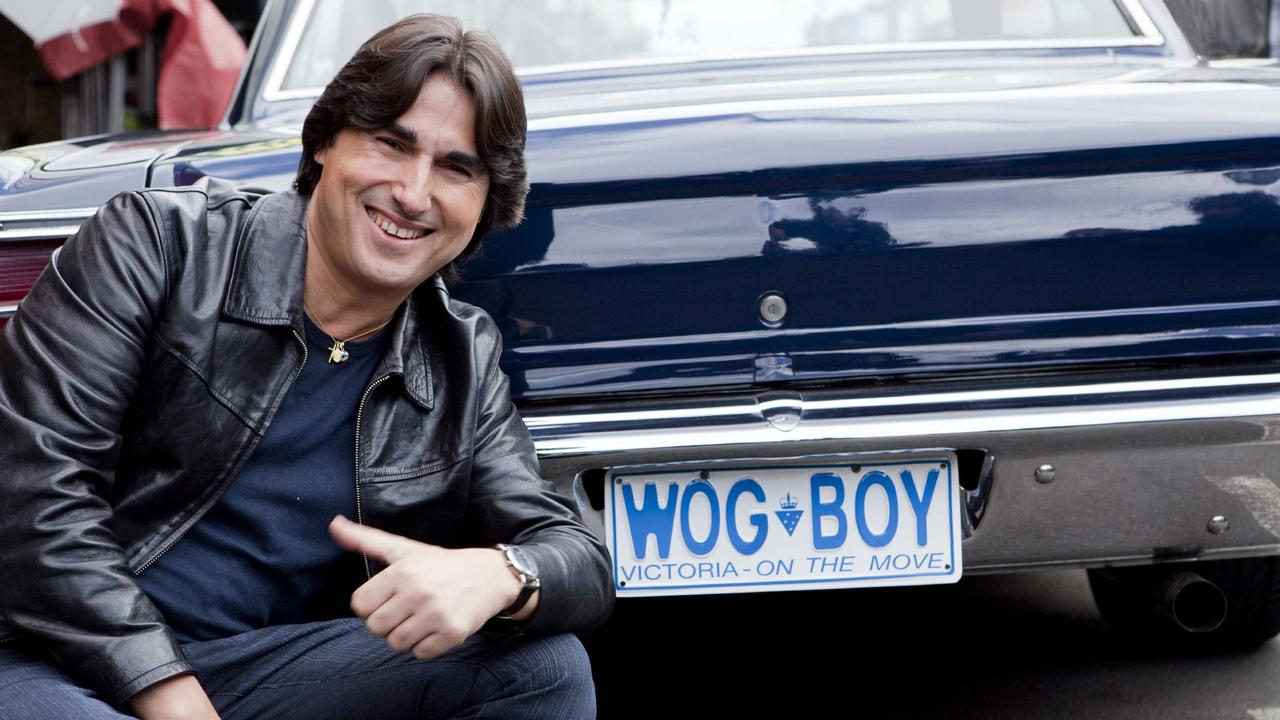 Actor and comedian Nick Giannoupolos has put fellow entertainers on notice for using the word 'wogs', which he trademarked back in the 90s.