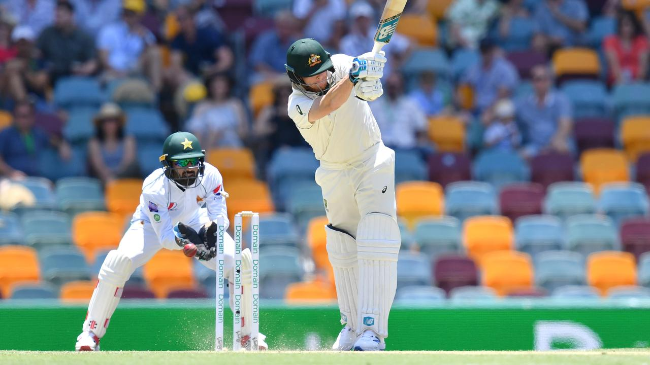 Steve Smith is clean bowled by Yasir Shah. Picture: AAP