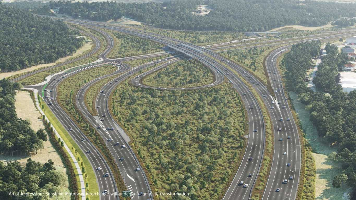 Traffic changes are expected to occur over the coming weeks, as the Bruce Highway and Sunshine Motorway interchange is one step closer to being completed.