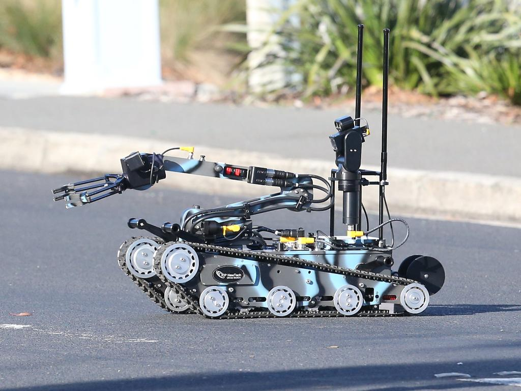 Bomb disposal robots cannot always be used in tricky situations. Picture: Nikki Davis-Jones