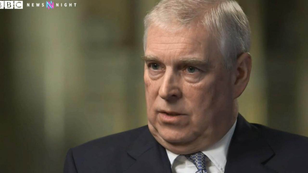Prince Andrew during the trainwreck interview.